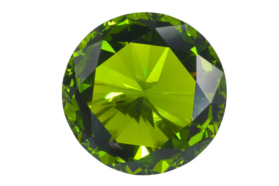 Green Gem Isolated Jewelry  - Green Gem Isolated Fine Art Print