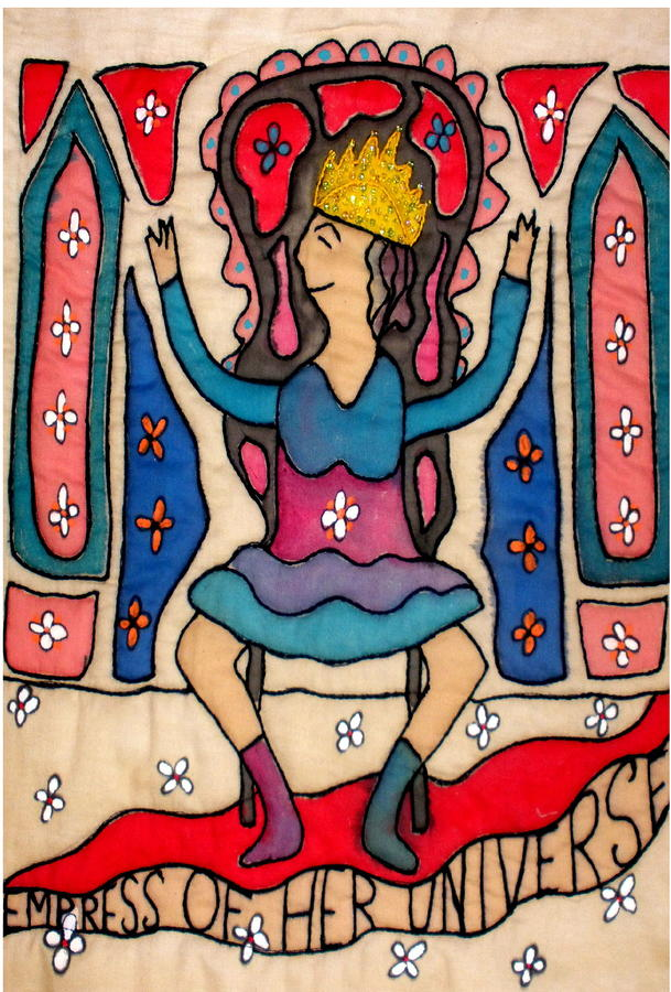 Greeting Card - Empress Tapestry - Textile  - Greeting Card - Empress Fine Art Print