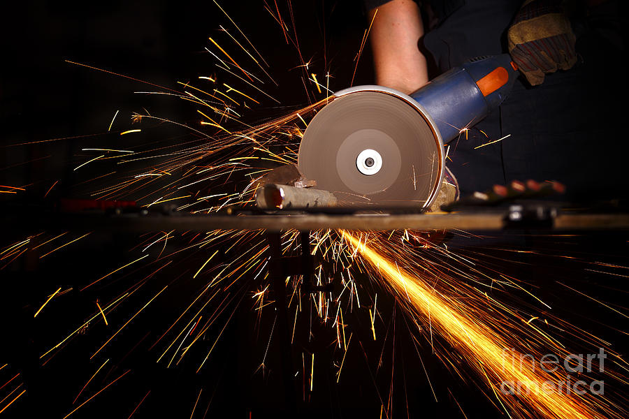 Grinder In Action Photograph  - Grinder In Action Fine Art Print