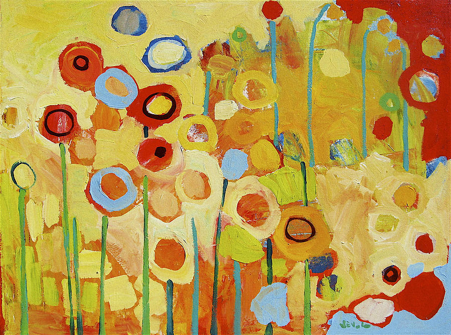 Growing In Yellow No 2 Painting  - Growing In Yellow No 2 Fine Art Print