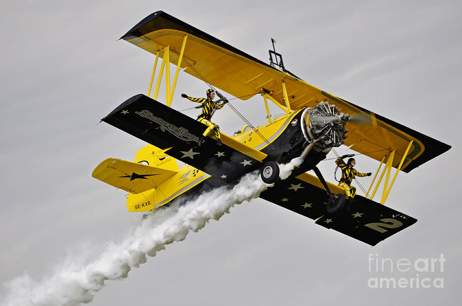 Airplane Pyrography - Grumman Ag 164 Wingwalker by Conny Sjostrom