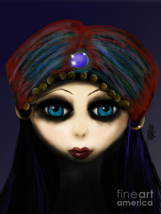 Gypsy Girl Digital Art  - Gypsy Girl Fine Art Print