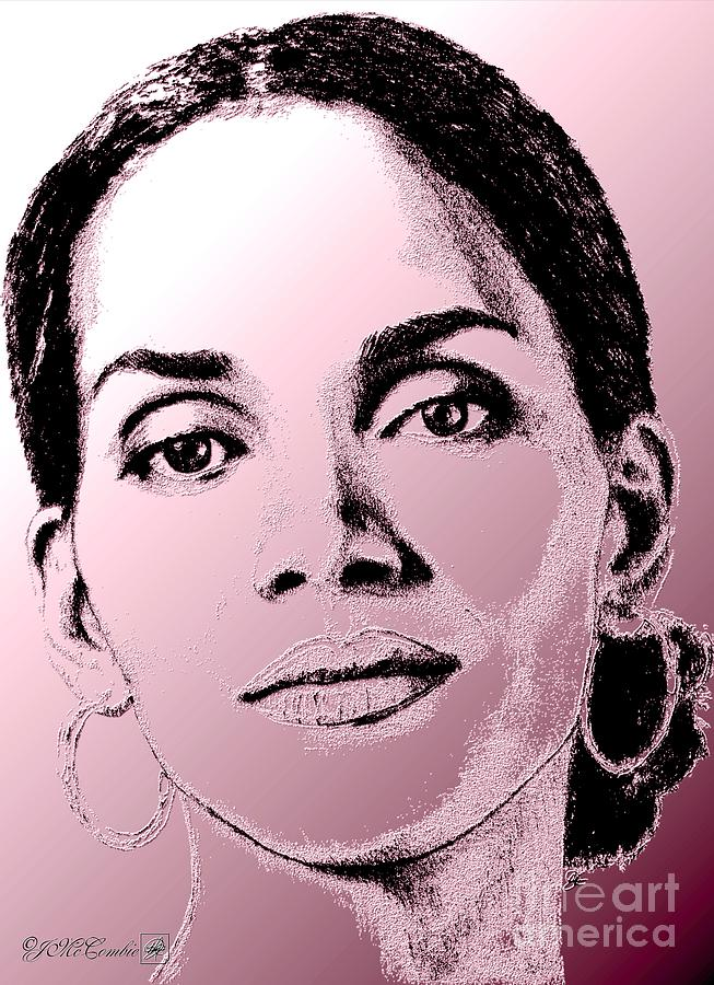 Halle Berry In 2008 Digital Art  - Halle Berry In 2008 Fine Art Print