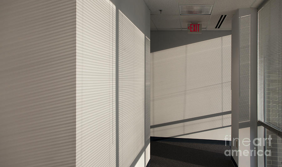 Airy Photograph - Hallway Of An Office Building by Will & Deni McIntyre