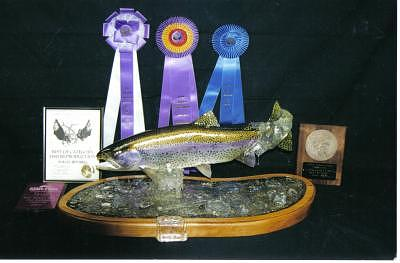 Hand Carved Rainbow Trout Sculpture