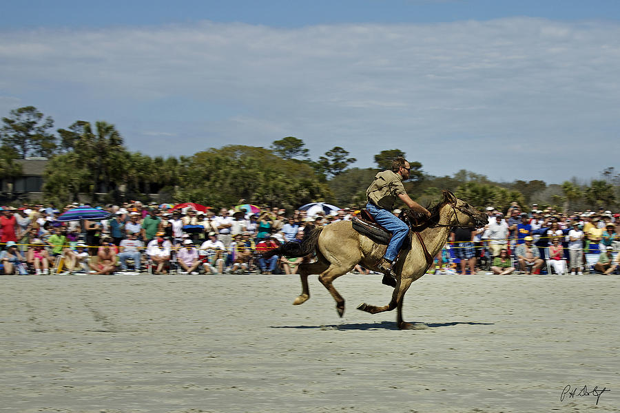 Beach Photograph - Has A Big Lead by Phill Doherty
