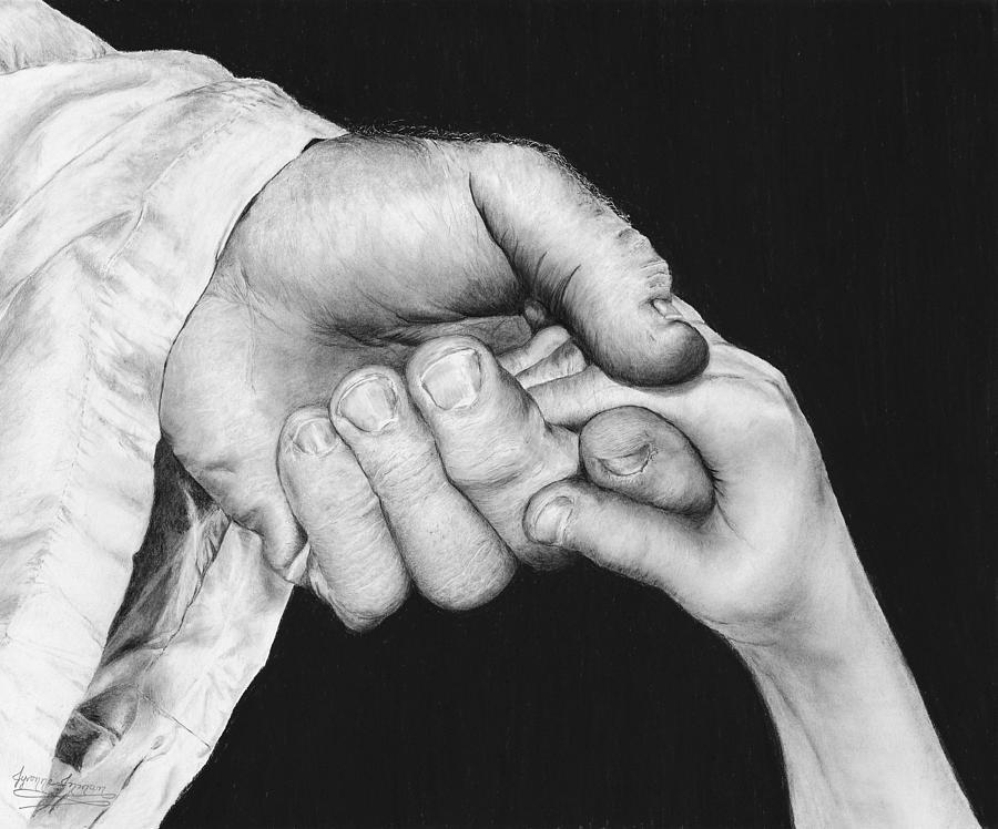 He Leadeth Me Drawing