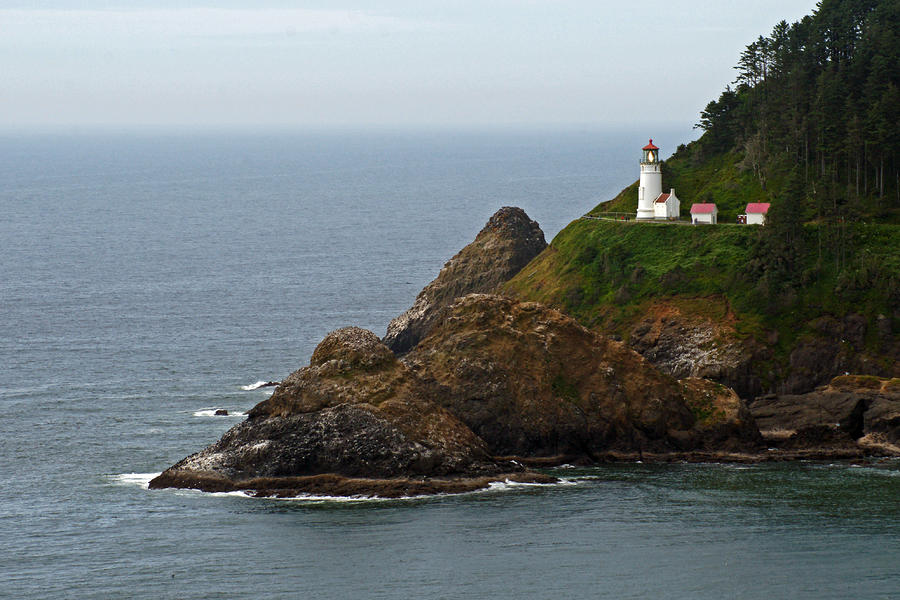 Sea Photograph - Heceta Head Lighthouse by Jake Johnson