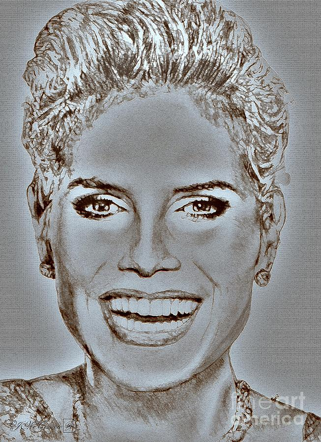 Heidi Klum In 2010 Digital Art  - Heidi Klum In 2010 Fine Art Print