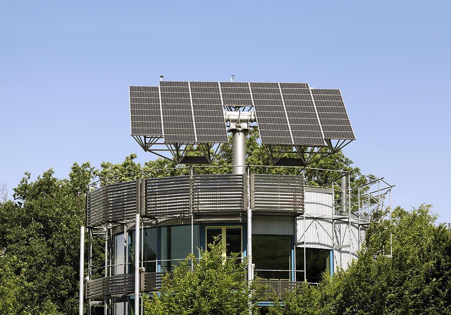 Heliotrop Photograph - Heliotrope Solar House by Martin Bond