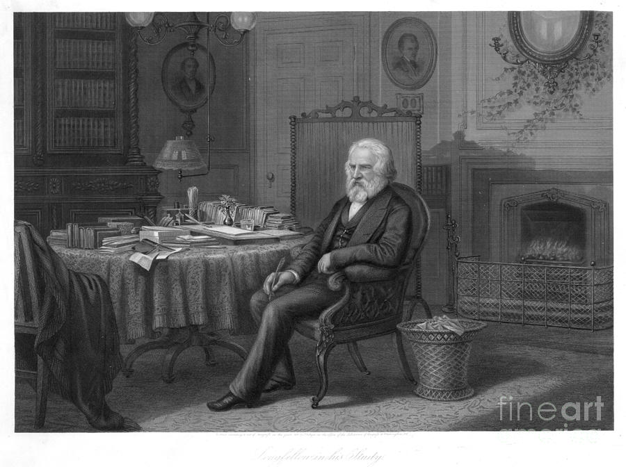 Henry Wadsworth Longfellow Photograph  - Henry Wadsworth Longfellow Fine Art Print