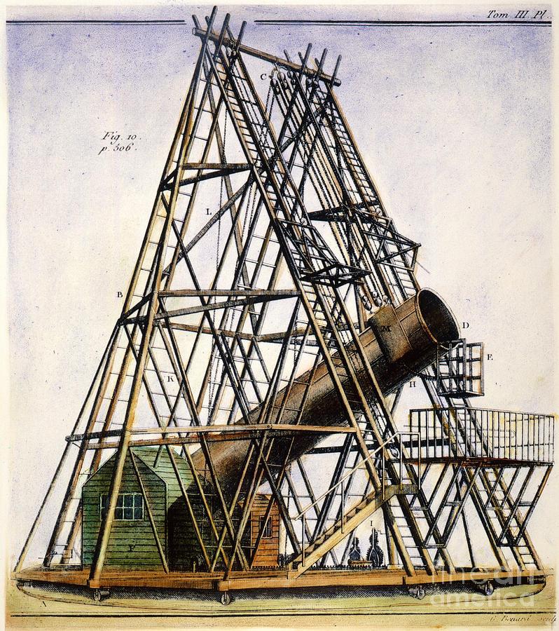 Herschels Telescope  1789 PhotographHerschel Telescope