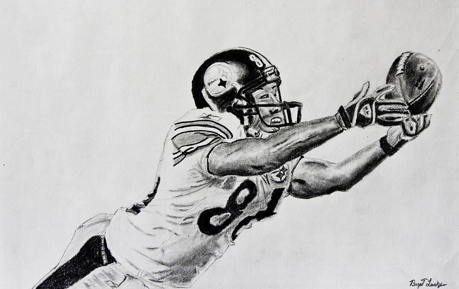 Hines Ward Diving Catch  Drawing