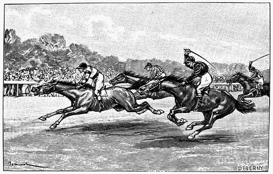Horse Racing, 1900 Photograph