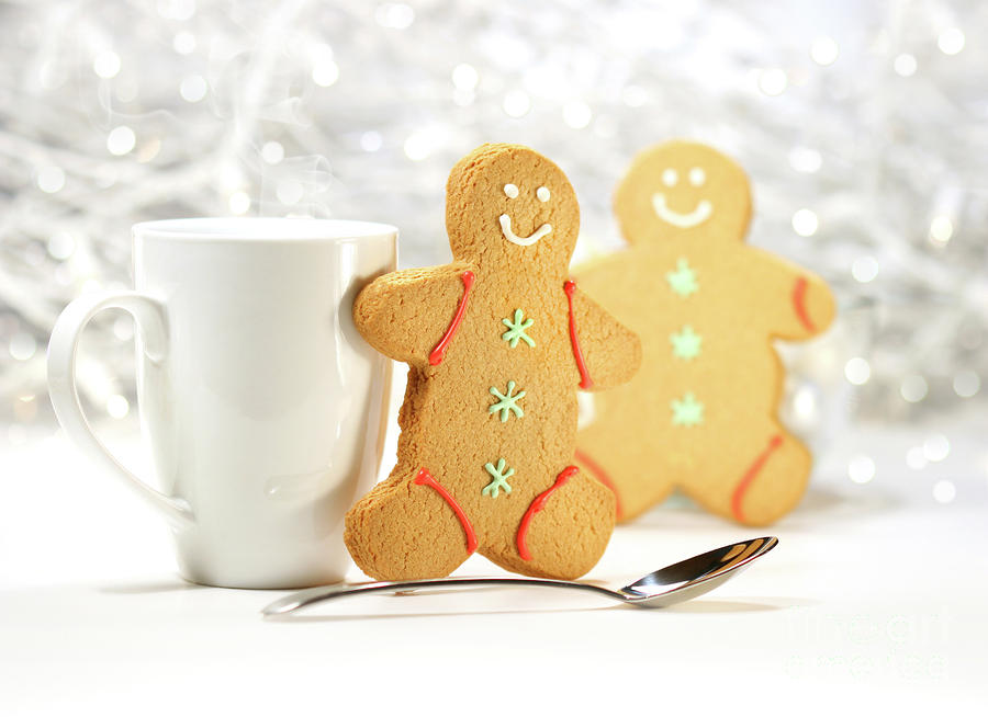 Hot Holiday Drink With Gingerbread Cookies  Photograph