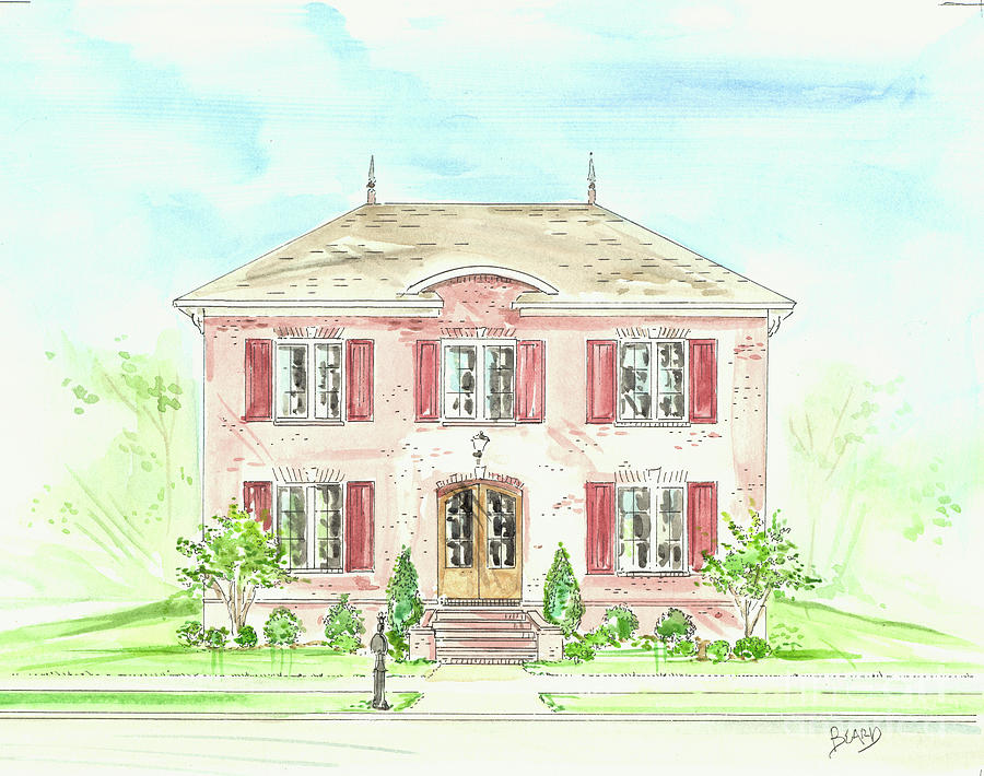 House Rendering Sample Drawing By Lizi Beard Ward