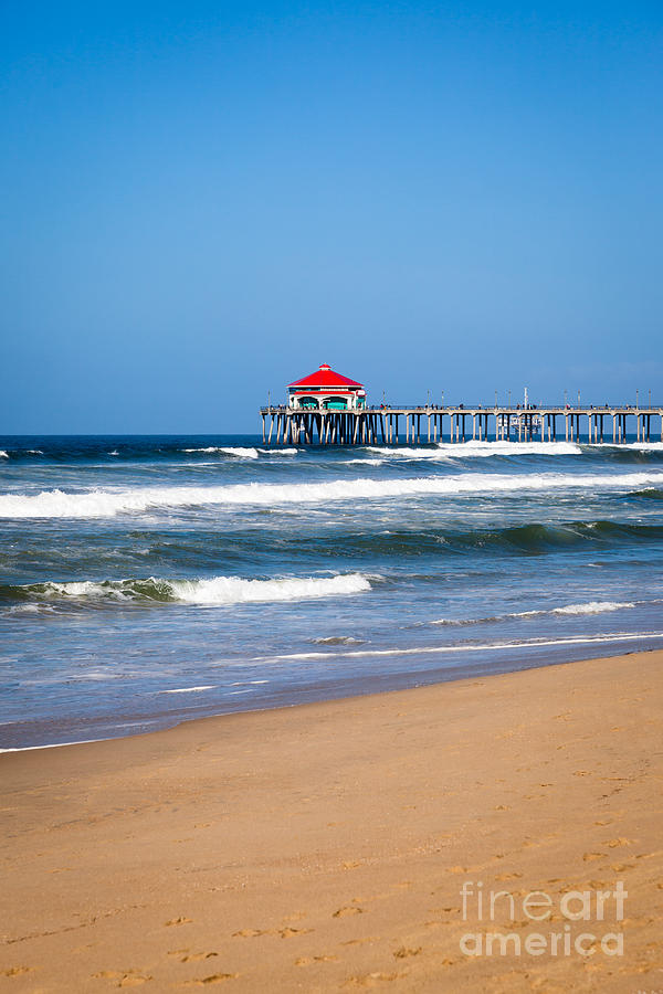 Huntington Beach Pier In Orange County California Photograph