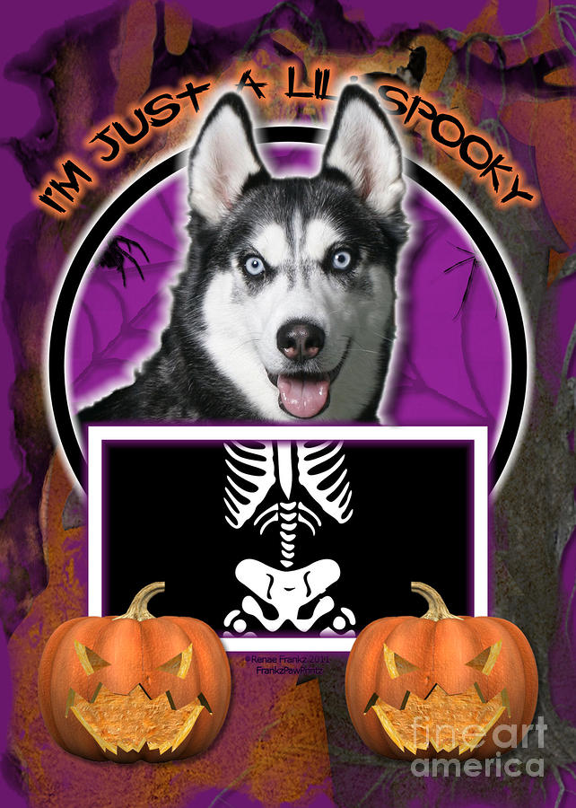 Im Just A Lil Spooky Siberian Husky Digital Art