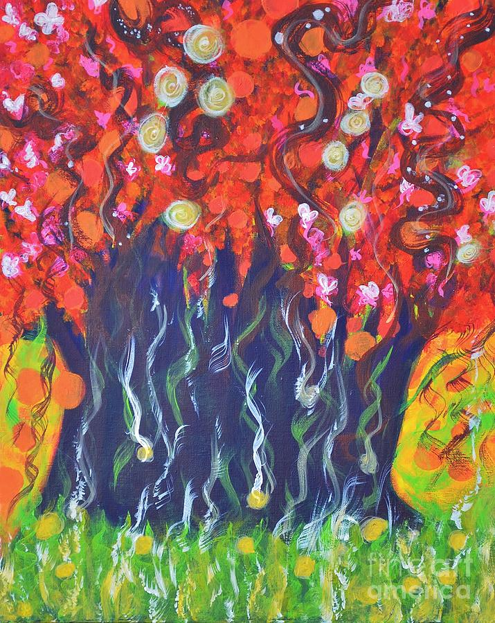 Tree Painting - Imagination by Shrishti Yadav