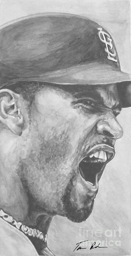 Intensity Pujols Painting