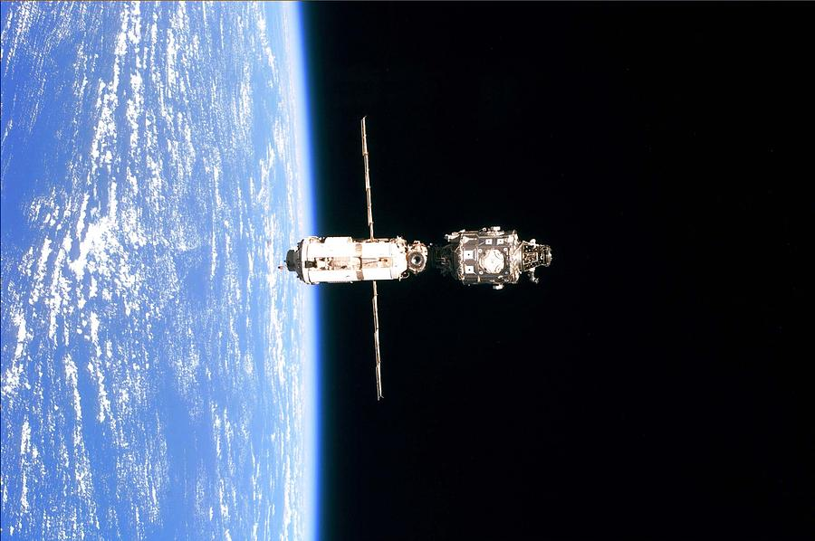 International Space Station In 1999 Photograph  - International Space Station In 1999 Fine Art Print