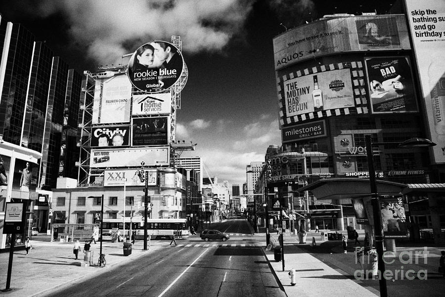 Intersection Of Yonge And Dundas At Yonge-dundas Square Toronto Ontario Canada Photograph