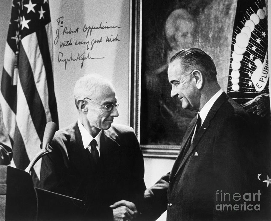 1963 Photograph - J. Robert Oppenheimer by Granger