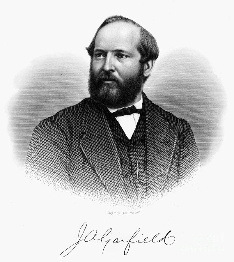James A. Garfield (1831-1881) Photograph  - James A. Garfield (1831-1881) Fine Art Print