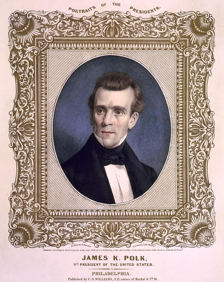 James Polk 1795-1849 President Photograph  - James Polk 1795-1849 President Fine Art Print