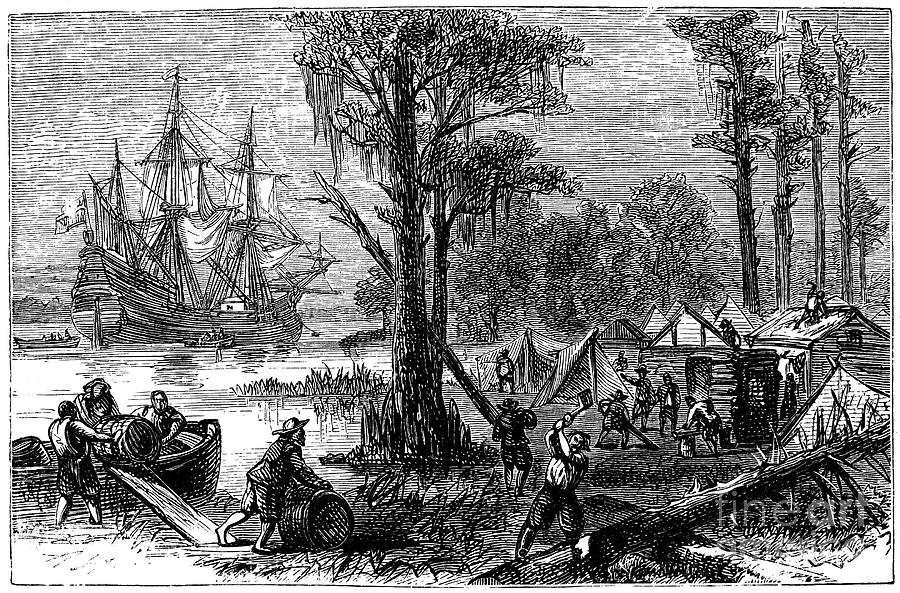 Jamestown: Arrival, 1607 Photograph by Granger