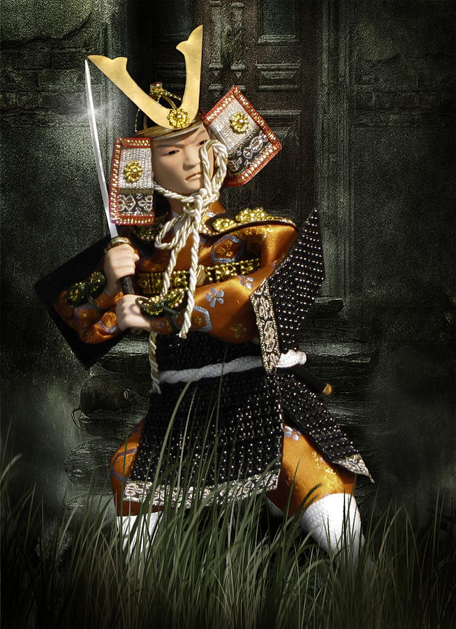 Japanese Samurai Doll Photograph  - Japanese Samurai Doll Fine Art Print