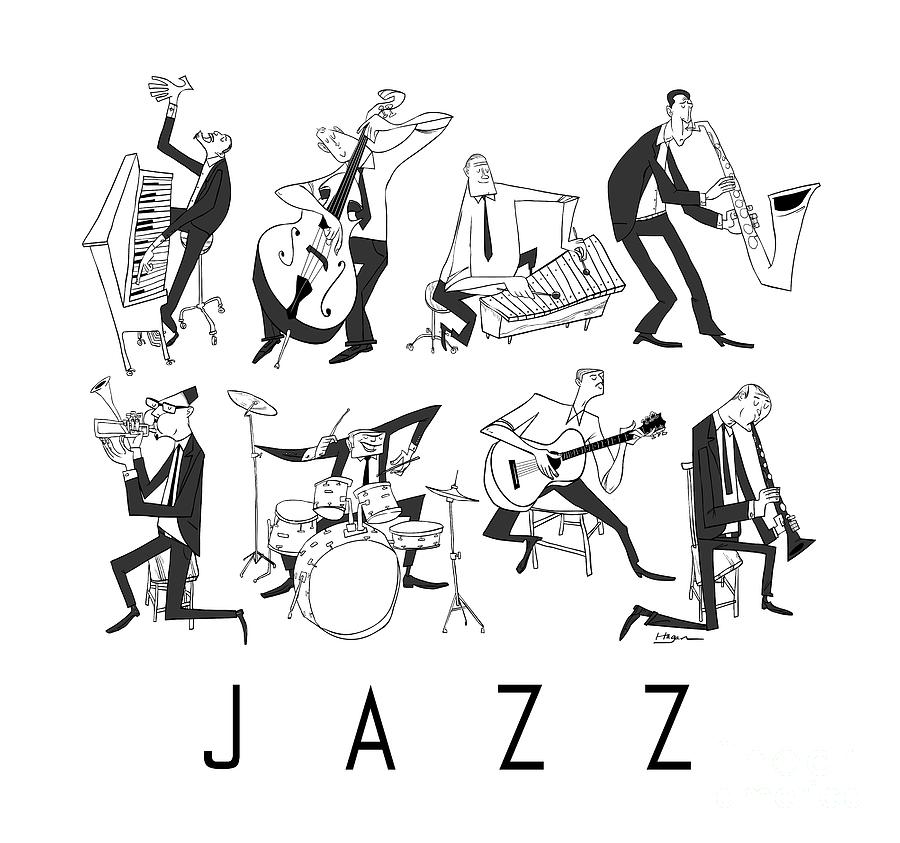 Jazz Digital Art  - Jazz Fine Art Print