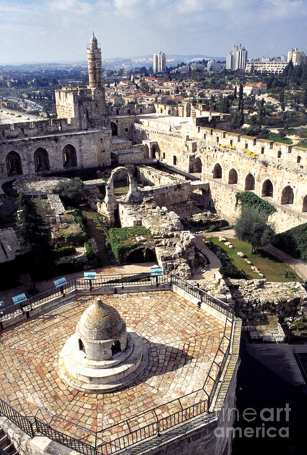 Jerusalem From The Tower Of David Museum Photograph  - Jerusalem From The Tower Of David Museum Fine Art Print