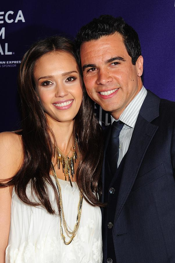 Jessica Alba, Cash Warren At Arrivals Photograph
