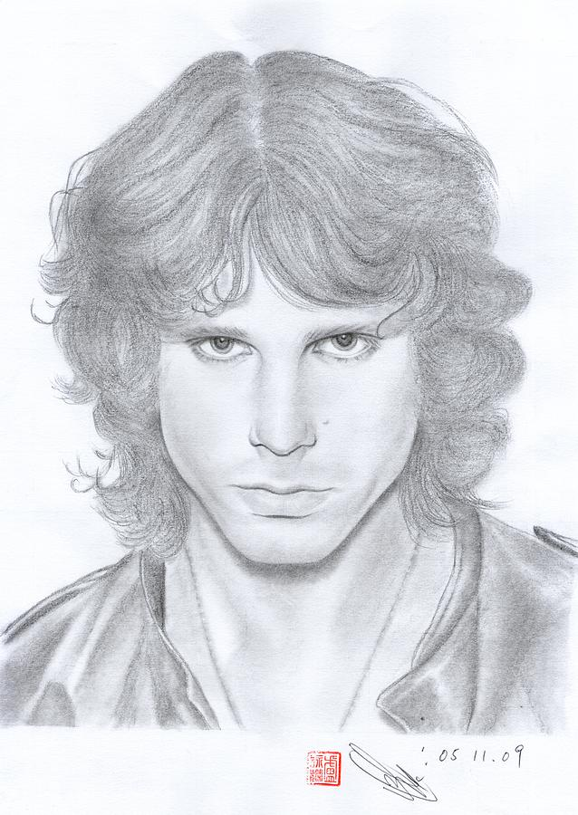 Jim Morrison Drawing