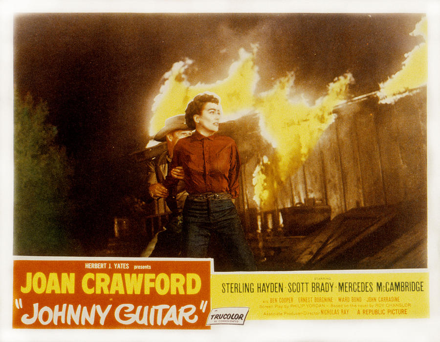 1950s Poster Art Photograph - Johnny Guitar, Joan Crawford, Sterling by Everett