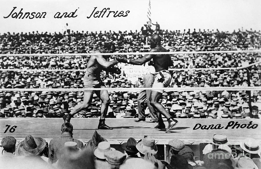 Johnson Vs. Jeffries, 1910 Photograph  - Johnson Vs. Jeffries, 1910 Fine Art Print