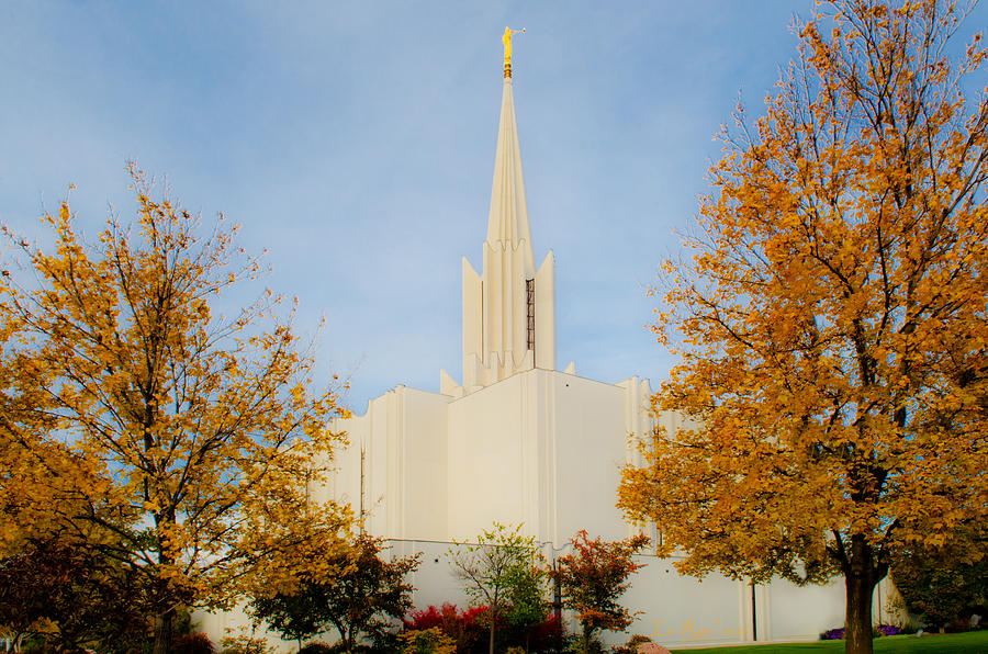 Jordan River Temple Photograph  - Jordan River Temple Fine Art Print