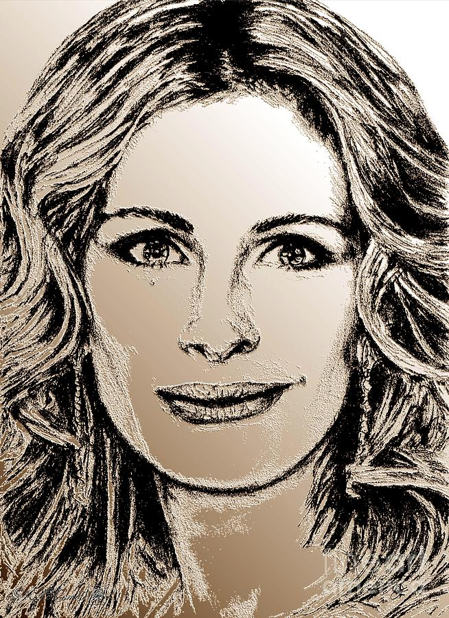 Julia Roberts In 2008 Digital Art