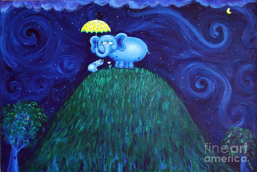 Elephants Painting - Jumbo Love by Jennifer Alvarez