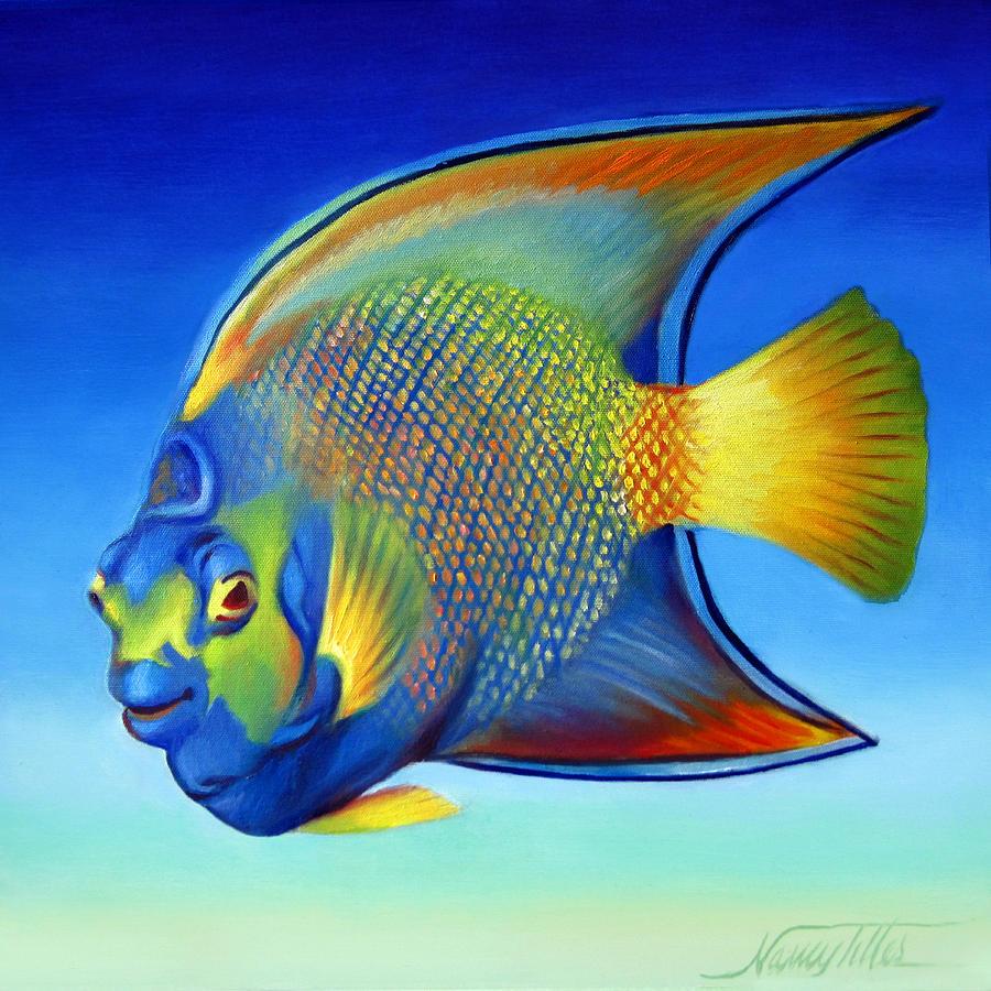 Juvenile Queen Angelfish by Nancy - 171.4KB