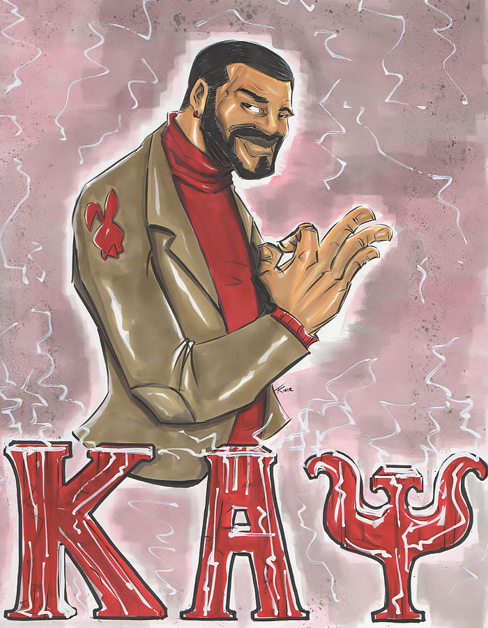 Kappa Alpha Psi Fraternity Inc Drawing  - Kappa Alpha Psi Fraternity Inc Fine Art Print