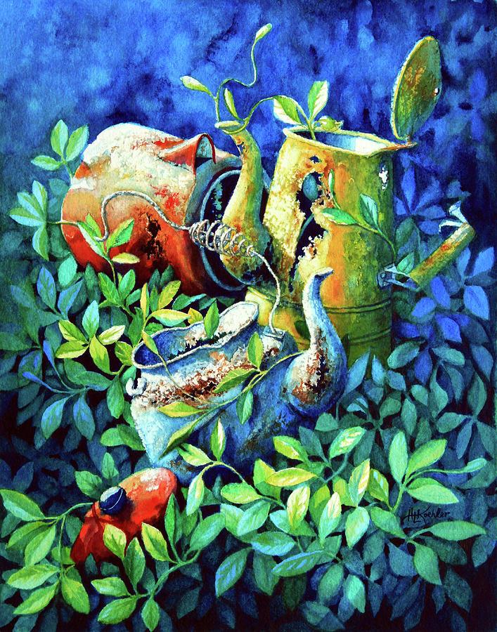 Garden Art Painting - Kettle Cluster by Hanne Lore Koehler