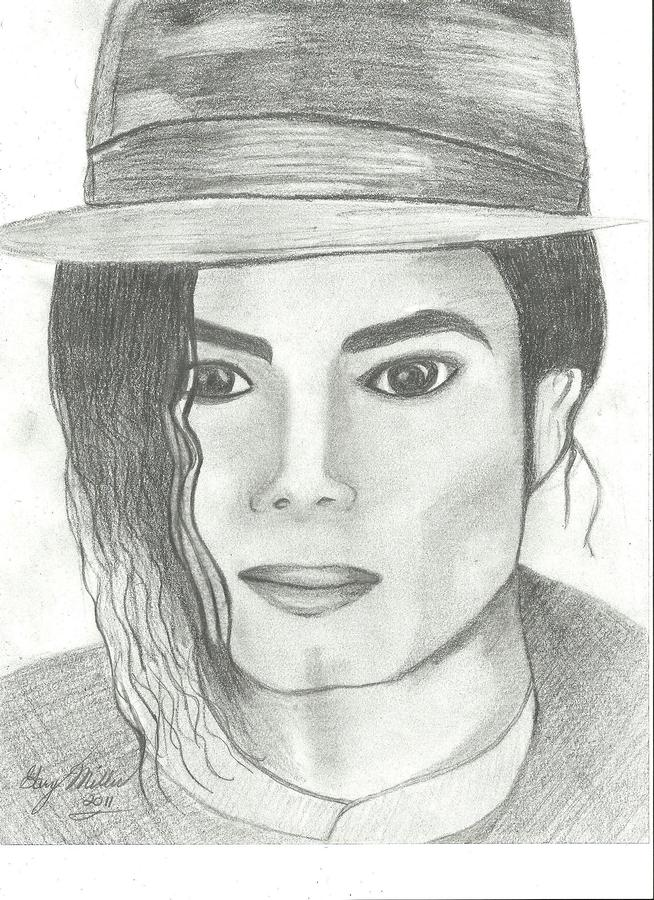 King Of Pop Drawing