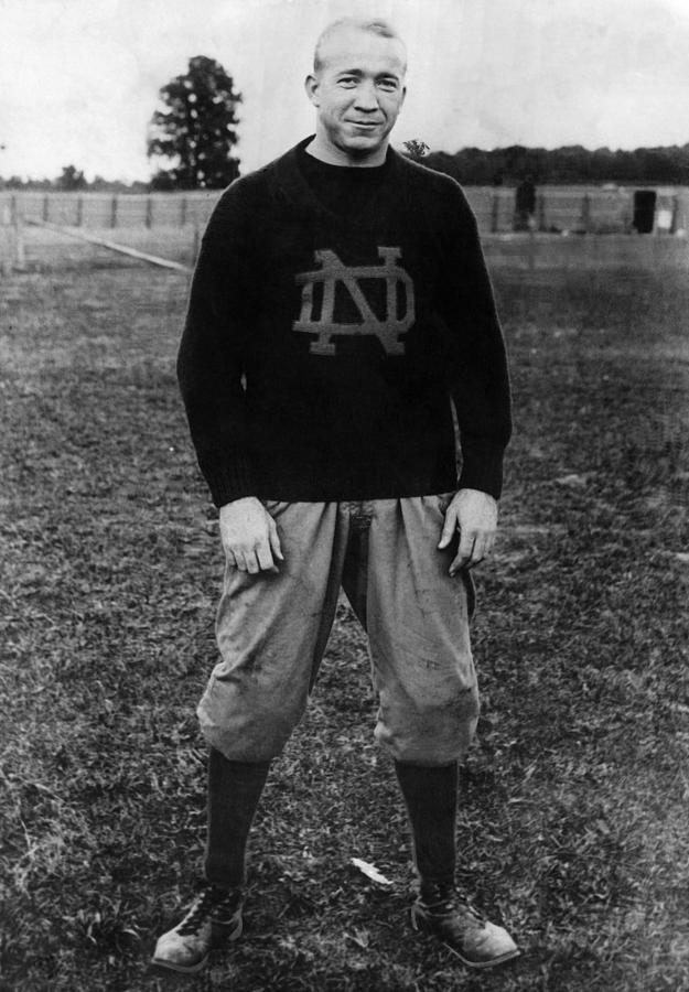 Knute Rockne, University Of Notre Dame Photograph