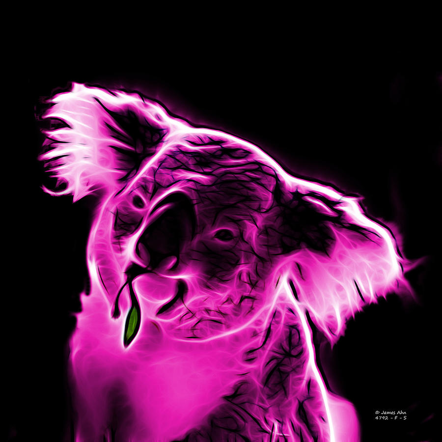 Koala Pop Art - Magenta Digital Art  - Koala Pop Art - Magenta Fine Art Print