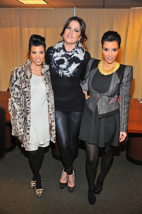 Kourtney Kardashian Photograph - Kourtney Kardashian, Khloe Kardashian by Everett