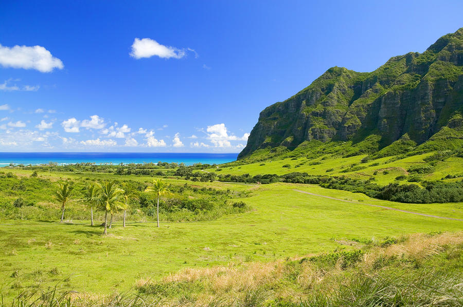Kualoa Ranch Mountains Photograph
