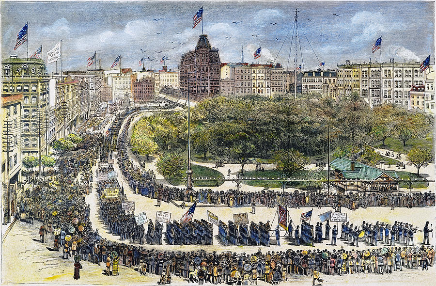 Labor Day Parade, 1882 Photograph  - Labor Day Parade, 1882 Fine Art Print