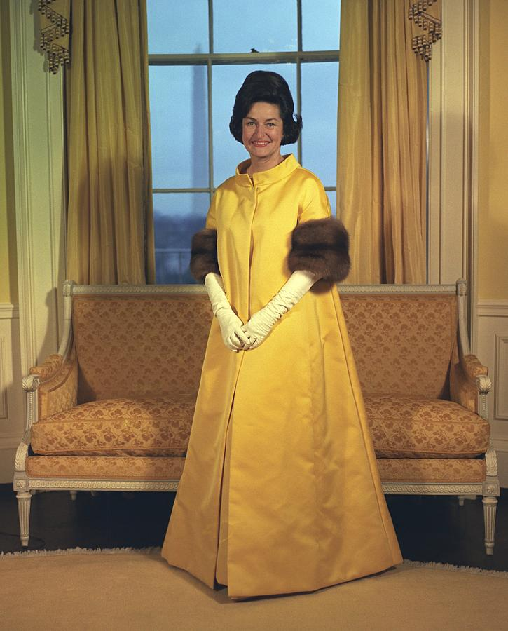 Lady Bird Johnsons Inaugural Gown. The Photograph